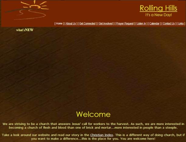 church website sans steeple